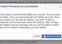 Confirm Permanent Account Deletion